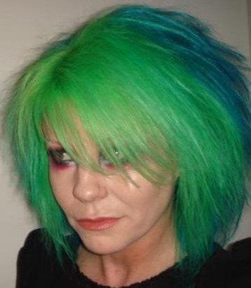 Cheveux bleu vert couleur cheveux for Bleu vert couleur