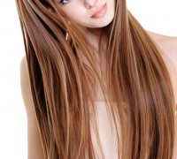 woman with beauty straight hairs
