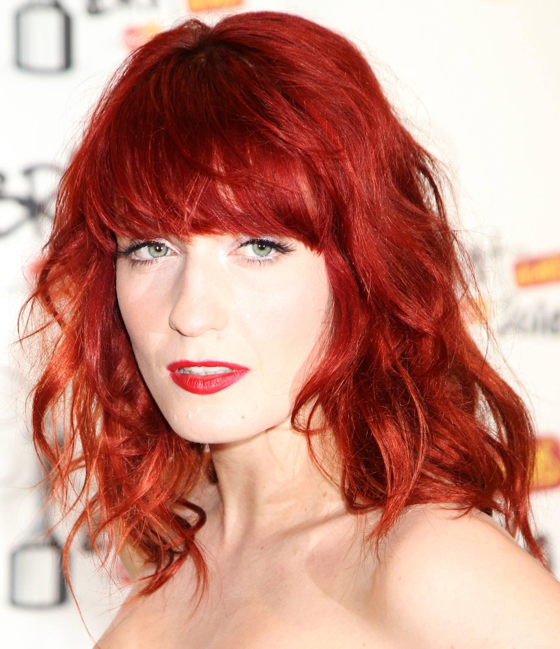 Couleur de cheveux roux rouge